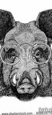 фото тату кабан от 12.02.2018 №058 – tattoo boar – tatufoto.com