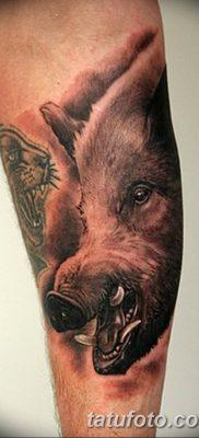 фото тату кабан от 12.02.2018 №068 – tattoo boar – tatufoto.com
