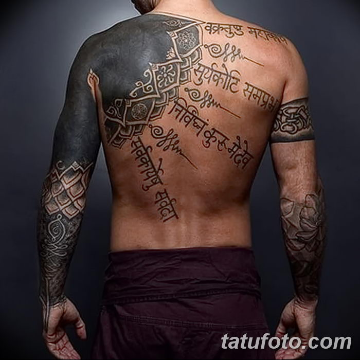 фото тату мантры от 07.02.2018 №019 - mantra tattoo - tatufoto.com