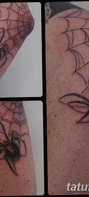 фото тату паутина на локте от 06.02.2018 №003 – tattoo spider web on elbow – tatufoto.com