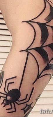 фото тату паутина на локте от 06.02.2018 №006 – tattoo spider web on elbow – tatufoto.com