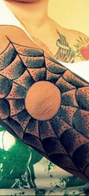 фото тату паутина на локте от 06.02.2018 №032 – tattoo spider web on elbow – tatufoto.com
