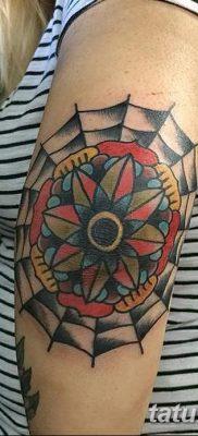 фото тату паутина на локте от 06.02.2018 №040 – tattoo spider web on elbow – tatufoto.com