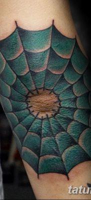 фото тату паутина на локте от 06.02.2018 №053 – tattoo spider web on elbow – tatufoto.com