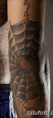 фото тату паутина на локте от 06.02.2018 №059 – tattoo spider web on elbow – tatufoto.com 26234
