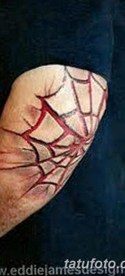 фото тату паутина на локте от 06.02.2018 №075 – tattoo spider web on elbow – tatufoto.com