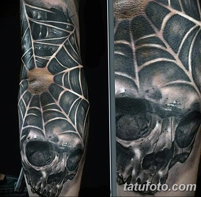 фото тату паутина на локте от 06.02.2018 №076 - tattoo spider web on elbow - tatufoto.com