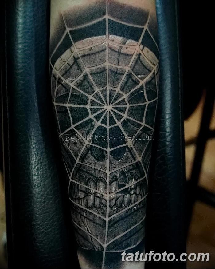 фото тату паутина на локте от 06.02.2018 №087 - tattoo spider web on elbow - tatufoto.com 26234 568