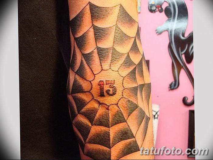 фото тату паутина на локте от 06.02.2018 №102 - tattoo spider web on elbow - tatufoto.com