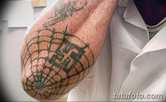 фото тату паутина на локте от 06.02.2018 №119 - tattoo spider web on elbow - tatufoto.com