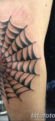 фото тату паутина на локте от 06.02.2018 №120 – tattoo spider web on elbow – tatufoto.com