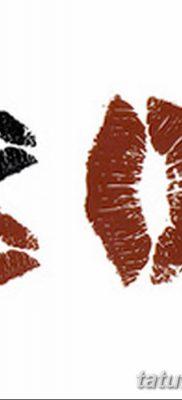 фото тату поцелуй от 21.02.2018 №075 – tattoo kiss – tatufoto.com