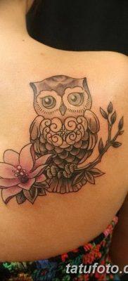фото тату сова для девушек от 19.02.2018 №003 – owl tattoo for girls – tatufoto.com