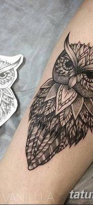 фото тату сова для девушек от 19.02.2018 №011 – owl tattoo for girls – tatufoto.com