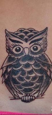 фото тату сова для девушек от 19.02.2018 №013 – owl tattoo for girls – tatufoto.com