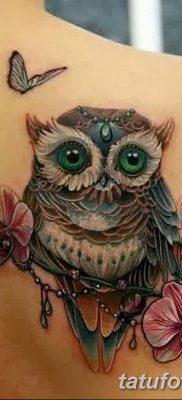 фото тату сова для девушек от 19.02.2018 №014 – owl tattoo for girls – tatufoto.com