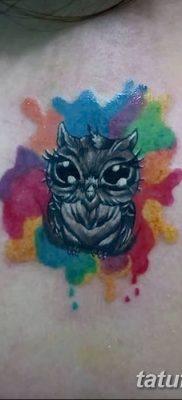 фото тату сова для девушек от 19.02.2018 №018 – owl tattoo for girls – tatufoto.com