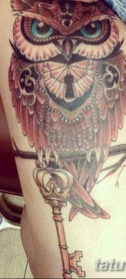 фото тату сова для девушек от 19.02.2018 №020 – owl tattoo for girls – tatufoto.com