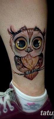 фото тату сова для девушек от 19.02.2018 №021 – owl tattoo for girls – tatufoto.com