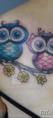 фото тату сова для девушек от 19.02.2018 №024 – owl tattoo for girls – tatufoto.com