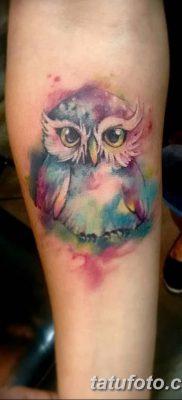 фото тату сова для девушек от 19.02.2018 №031 – owl tattoo for girls – tatufoto.com