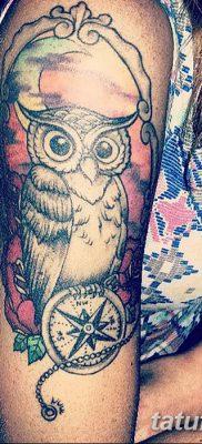 фото тату сова для девушек от 19.02.2018 №040 – owl tattoo for girls – tatufoto.com