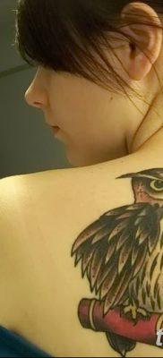 фото тату сова для девушек от 19.02.2018 №042 – owl tattoo for girls – tatufoto.com