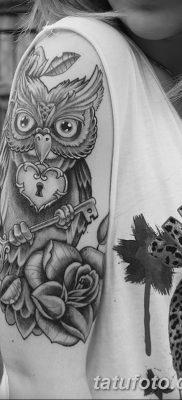 фото тату сова для девушек от 19.02.2018 №044 – owl tattoo for girls – tatufoto.com