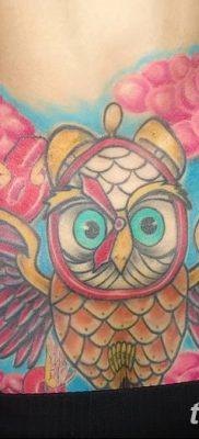 фото тату сова для девушек от 19.02.2018 №047 – owl tattoo for girls – tatufoto.com