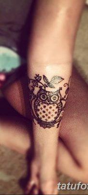 фото тату сова для девушек от 19.02.2018 №048 – owl tattoo for girls – tatufoto.com