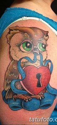 фото тату сова для девушек от 19.02.2018 №051 – owl tattoo for girls – tatufoto.com