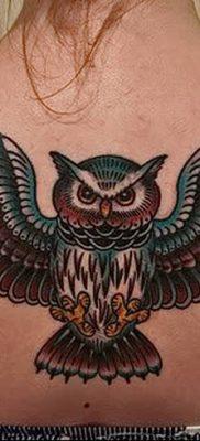 фото тату сова для девушек от 19.02.2018 №053 – owl tattoo for girls – tatufoto.com