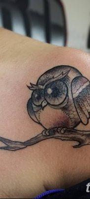 фото тату сова для девушек от 19.02.2018 №061 – owl tattoo for girls – tatufoto.com