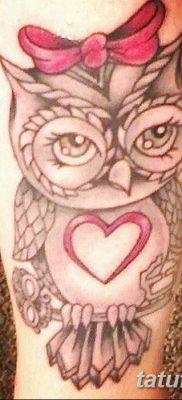 фото тату сова для девушек от 19.02.2018 №075 – owl tattoo for girls – tatufoto.com