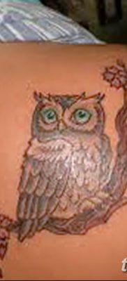 фото тату сова для девушек от 19.02.2018 №081 – owl tattoo for girls – tatufoto.com