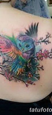 фото тату сова для девушек от 19.02.2018 №086 – owl tattoo for girls – tatufoto.com