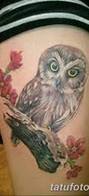 фото тату сова для девушек от 19.02.2018 №088 – owl tattoo for girls – tatufoto.com