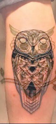фото тату сова для девушек от 19.02.2018 №096 – owl tattoo for girls – tatufoto.com