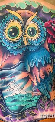 фото тату сова для девушек от 19.02.2018 №097 – owl tattoo for girls – tatufoto.com