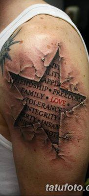 фото тату Пятиконечная звезда от 23.03.2018 №072 – tattoo Five-pointed star – tatufoto.com