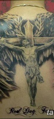 фото тату ангел с крыльями от 07.03.2018 №001 – angel tattoo with wings – tatufoto.com