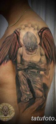 фото тату ангел с крыльями от 07.03.2018 №003 – angel tattoo with wings – tatufoto.com