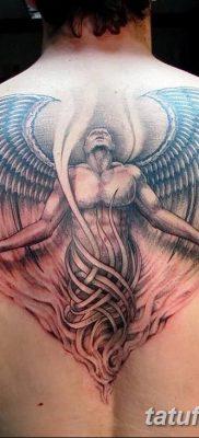 фото тату ангел с крыльями от 07.03.2018 №005 – angel tattoo with wings – tatufoto.com