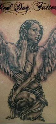 фото тату ангел с крыльями от 07.03.2018 №008 – angel tattoo with wings – tatufoto.com