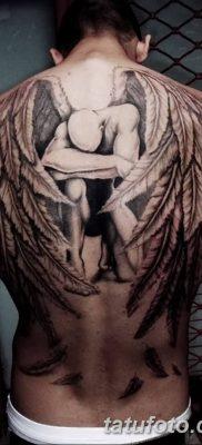 фото тату ангел с крыльями от 07.03.2018 №011 – angel tattoo with wings – tatufoto.com