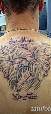 фото тату ангел с крыльями от 07.03.2018 №014 – angel tattoo with wings – tatufoto.com
