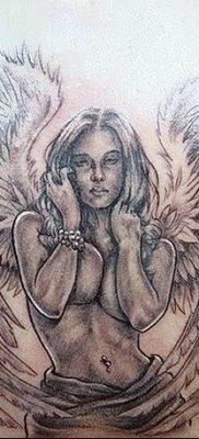 фото тату ангел с крыльями от 07.03.2018 №015 – angel tattoo with wings – tatufoto.com