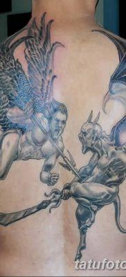 фото тату ангел с крыльями от 07.03.2018 №022 – angel tattoo with wings – tatufoto.com