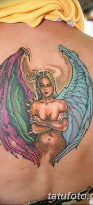 фото тату ангел с крыльями от 07.03.2018 №055 – angel tattoo with wings – tatufoto.com