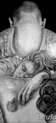 фото тату ангел с крыльями от 07.03.2018 №070 – angel tattoo with wings – tatufoto.com